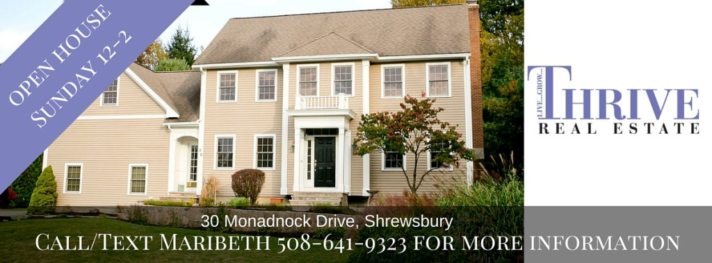 Open House 30 Monadnock Drive Shrewsbury MA
