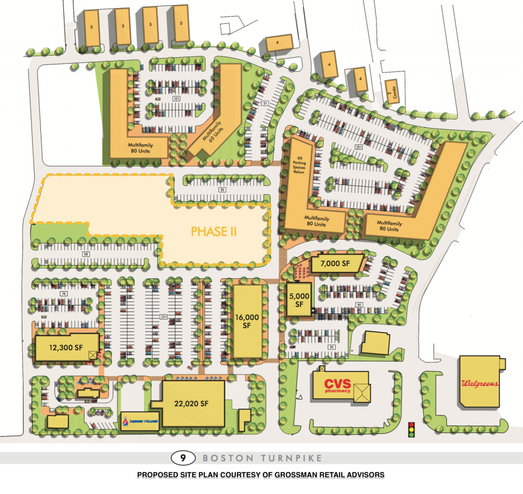 Site Plans for the new Lakeside Commons Development in Shrewsbury MA