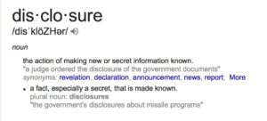 Definition of Disclosure