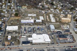 Aerial View of Construction Progress of Lakeways Commons in Shrewsbury MA