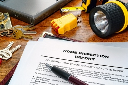photo of a home inspectors checklist