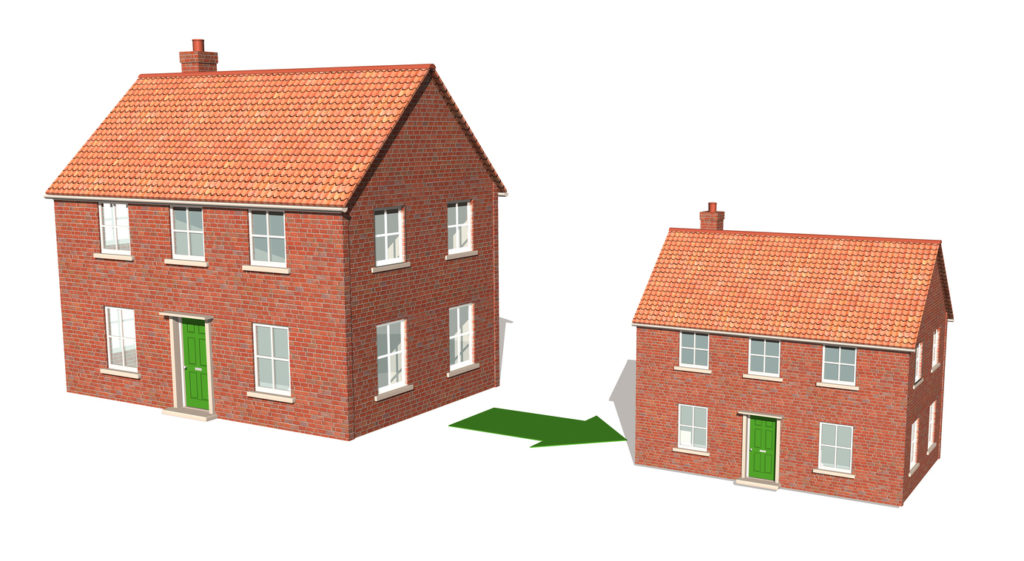 photo of downsizing from a larger home to a smaller one