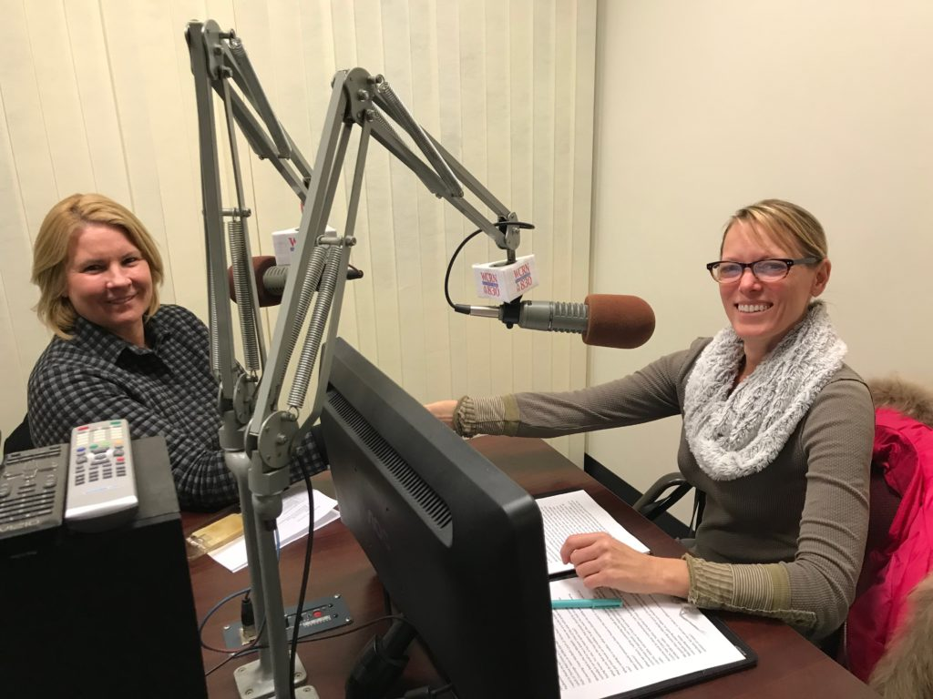 photo of Realtor Maribeth Lynch being interviewed by Radio Host Pauline Robertson